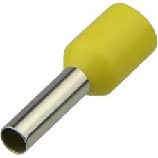 Наконечники НТ 0,75-08 жовті (100шт) трубчаті ізольовані Аско Укрем (A0060010140)