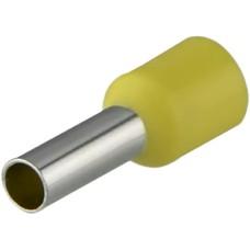 Наконечники НТ 4,0-09 жовті (100шт) трубчаті ізольовані Аско Укрем (A0060010143)