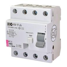 Диференційне реле (ПЗВ) EFI-4 4п 100А  100мА ETI (2062153)