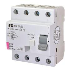 Диференційне реле (ПЗВ) EFI-4 4п 100А  30мА ETI (2062151)