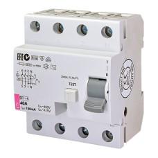 Диференційне реле (ПЗВ) EFI-4  4п 40A 100мА ETI (2063143)