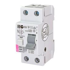 Диференційне реле (ПЗВ) EFI6 2п 16А 30мА тип AC (6kA) ETI (2062131)
