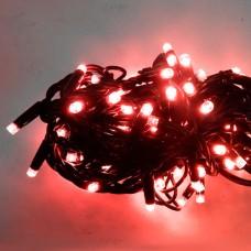 Гірлянда DELUX STRING 100LED 10м (2x5м) 20 flash червоний/чорний шнур IP44 EN