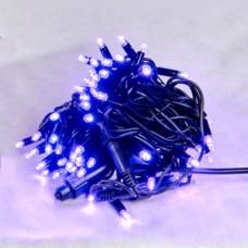 Гірлянда DELUX STRING 100LED 10м (2x5м) 20 flash фіолетовий/чорний шнур IP44 EN