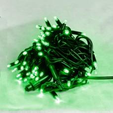 Гірлянда DELUX STRING 100LED 10м (2x5м) зелений/чорний шнур IP44 EN
