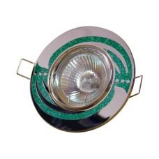 Світильник точковий 639A CH/GR MR16 зелений АскоУкрем