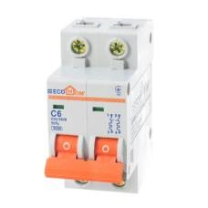 Автоматичний вимикач ECO 2р 6А EcoHome