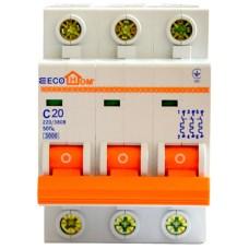 Автоматичний вимикач ECO 3р 20А EcoHome