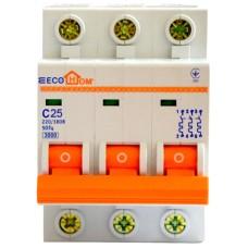 Автоматичний вимикач ECO 3р 25А EcoHome