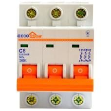 Автоматичний вимикач ECO 3р 6А EcoHome