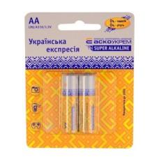 Батарейка лужна АА, LR6 1,5В (блістер 2 шт) АскоУкрем