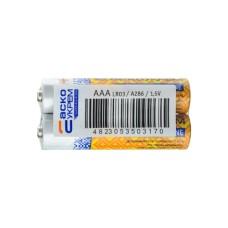 Батарейка лужна ААА, LR03 1,5В (спайка 2 шт) АскоУкрем