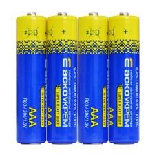 Батарейка сольова ААА, R03 1,5В (спайка 4 шт) АскоУкрем
