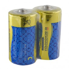 Батарейка сольова C, R14 1,5В (спайка 2 шт) АскоУкрем