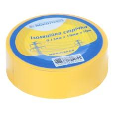 Ізоляційна стрічка 0,13мм*19мм*10м жовта АскоУкрем (A0150020005)