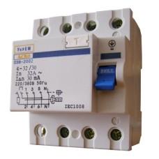 Пристрій захисного відключення ПЗВ-2001 4p/40A/30mA АскоУкрем
