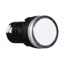 Світлосигнальна арматура AD22-22DS біла 24V АC/DC АскоУкрем