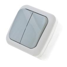 Вимикач двоклавішний IP54 VIKO Palmiye