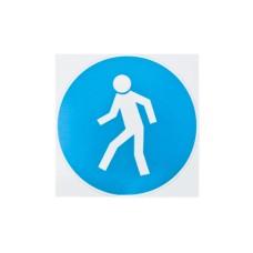 Знак Необхідно пересуватися пішки 150х150