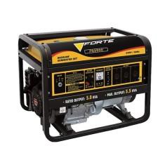 Електростанція FG3500 2,5кВт, 1фаза 50Гц, бензин 0,55 л/кВт-год, бак 15л, ручний старт FORTE