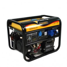 Електростанція FG6500E 5кВт, 1фаза 50Гц, бензин 0,55 л/кВт-год, бак 25л, ел.стартер або ручний старт FORTE