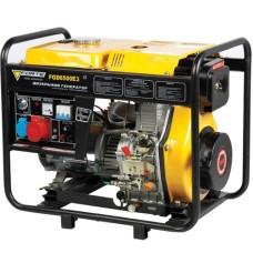 Електростанція FGD6500E3 5кВт, 3фази 50Гц, дизель 0,44 л/кВт-год, бак 15л, ел.стартер або ручний старт FORTE