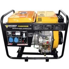 Електростанція FGD6500E 4,4кВт, 1фаза 50Гц, дизель 0,44 л/кВт-год, бак 15л, ел.стартер або ручний старт FORTE