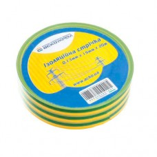 Ізоляційна стрічка 0,13мм*19мм*20м жовто-зелена АскоУкрем (A0150020009)