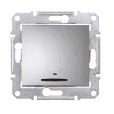 Кнопка з підсвіткою алюміній SE Sedna