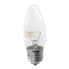 Лампа розжарення B35 40Вт Е27 свічка прозора PHILIPS