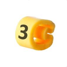 Маркування кабельне EC-3 з позначкою (3) 5,2...10 АскоУкрем