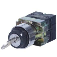 Перемикач XB2-BG33 1NO+1NO 3-позиційний поворотний ключ АскоУкрем