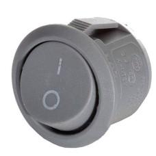 Перемикач YL213-01 круглий сірий АскоУкрем