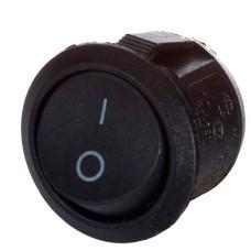 Перемикач YL213-04 круглий чорний АскоУкрем