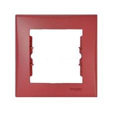 Рамка одинарна горизонтальна червона Sedna