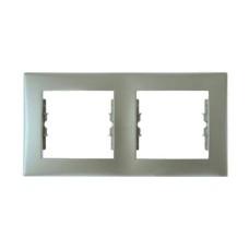 Рамка 2-а горизонтальна алюміній SE Sedna