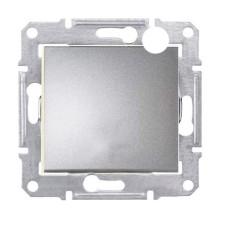 Вимикач одноклавішний перехресний алюміній SE Senda