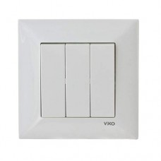 Вимикач триклавішний білий VIKO Meridian
