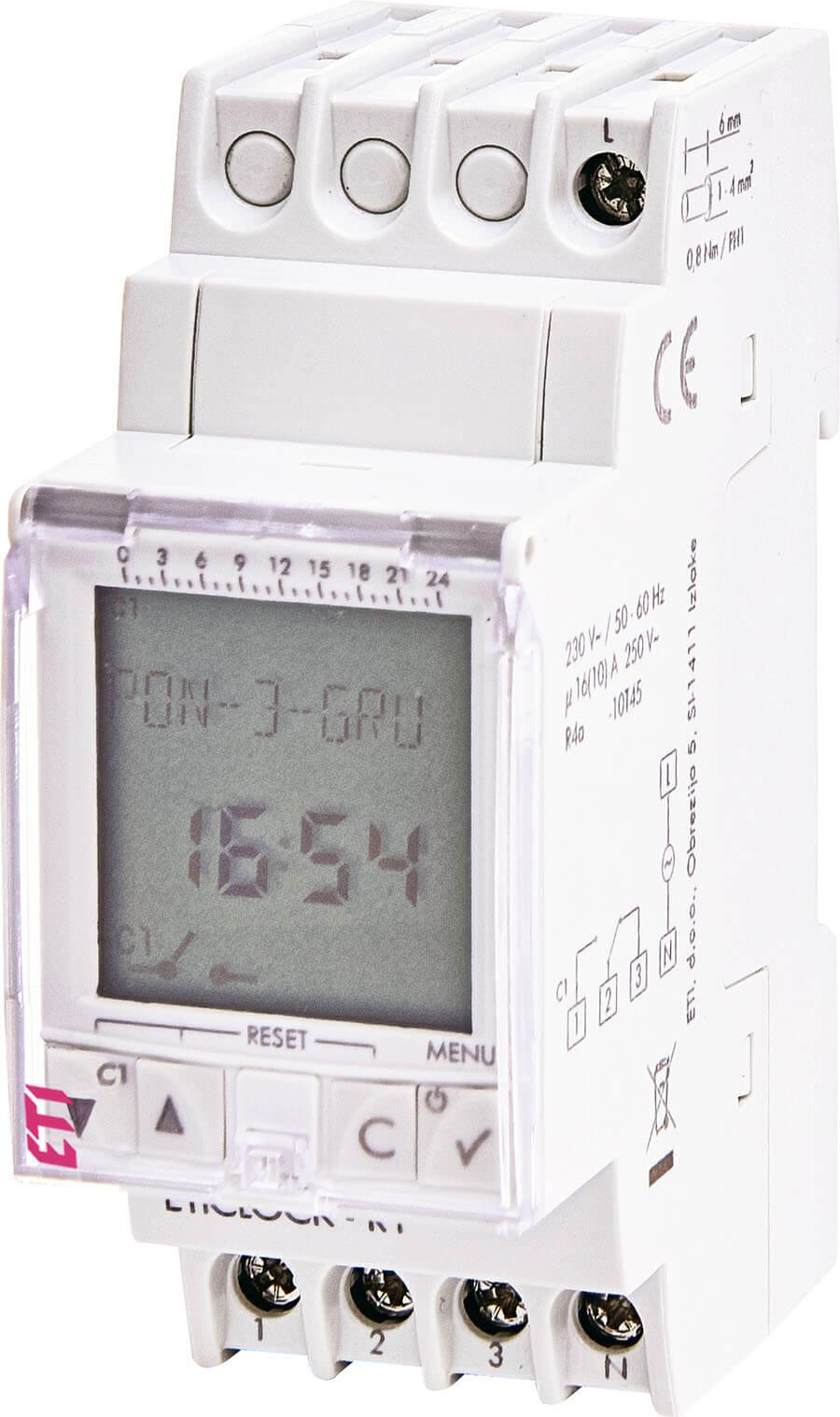 Цифровой таймер ETI 002472053 Eticlock-R1 230V