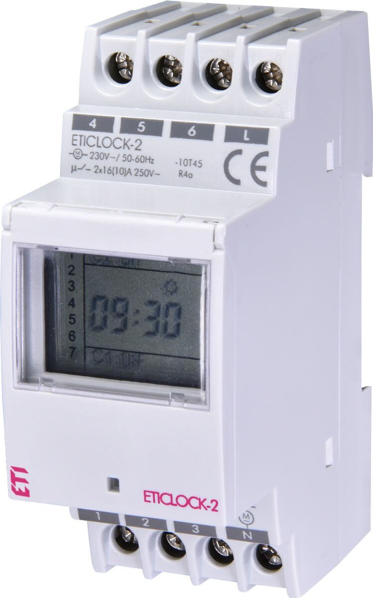 Цифровой таймер ETI 002472012 Eticlock-2 230V (2x16A AC1)