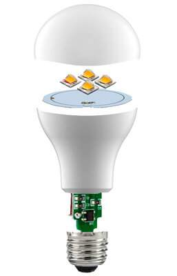 конструкція лампочки ЛЕД