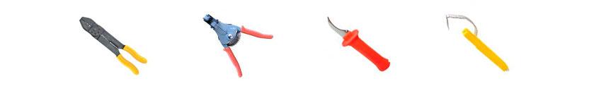 кліщі, ножі, знімачі ізоляції