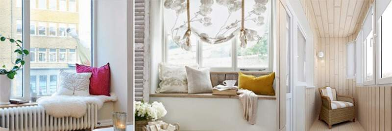 теплые окна и балкон