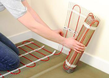 тепла підлога, нагрівальний мат
