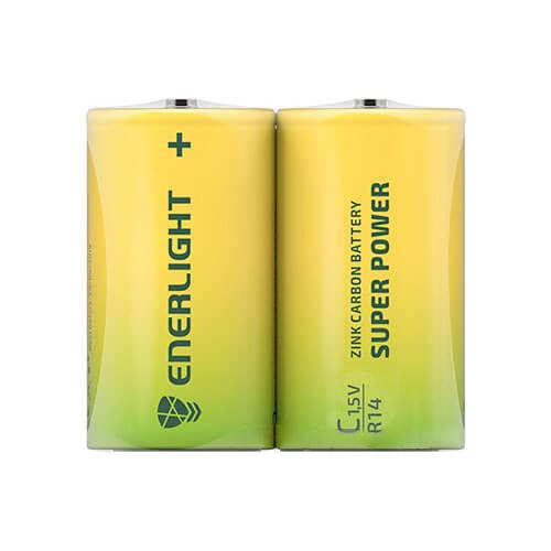 Батарейка C Super Power FOL2 ENERLIGHT (2шт)