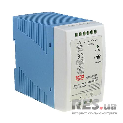 Блок питания 24В/100Вт/DIN рейка (MDR-100-24) MeanWell